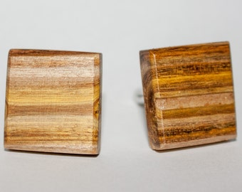 Wooden cufflinks jasmin