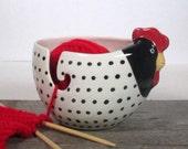 Hen yarn bowl knitting bowl Knitter gift Ready to ship