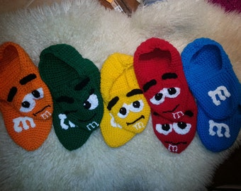 M&M Adult slippers inspired