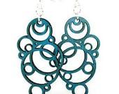 Integrated Circle Design - Wood Earrings