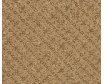 """LAST PIECE 30.5"""" of Pheasant Hill Tonal Tan Fence Row by Kansas Troubles Quilters for Moda"""