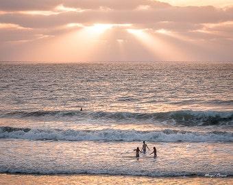 Beach Photograph,Sunset at Del Mar Beach