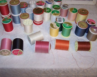 Quilting Thread - Collection of 32 spools - Hand Quilting Thread - Lot of 32 - Spools of Quilting Thread