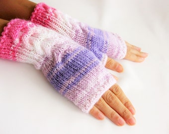 Fingerless Gloves, Arm Warmers, for Women, Hand Knitted