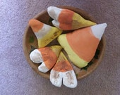 Primitive, Hand Made, Candy Corn, Heart Corn, Bowl Fillers, Grungy, One-of-a-kind set, ATGCele