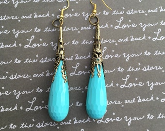 Gorgeous turquoise dangle earrings