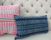 Vintage Indigo batik Hmong cushion cover, Cotton Fabric,Throw Pillow,Decorative Pillows,,lumbar cushion,