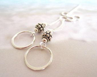 Bali Beads-Sterling Ear Threads