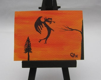 ACEO Original Painting Dragon