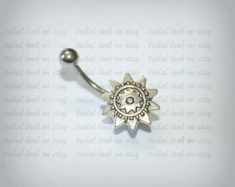 Belly Bar, Belly Button, Jewelry Navel Piercing,  Bar, Barbell, Belly Bar, Navel bar, Belly Piercing, Sun