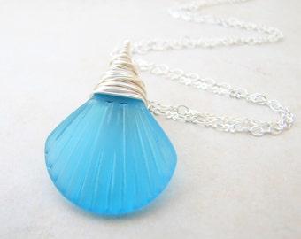 Seashell Necklace, Sea Shell Necklace, Seaglass Necklace, Sea Glass Necklace, Mermaid Necklace, Beach Jewelry, Beach Wedding, Ocean Jewelry