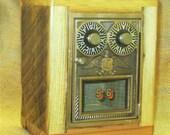 Post Office Door Bank No 56 - Double Dial - Circa 1950 - Barn Wood