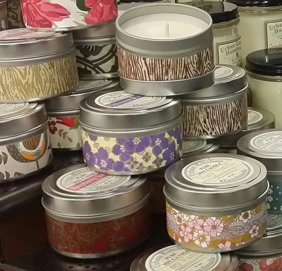 Soy Candle, Grapefruit & Mangosteen  Soy Candle 6 oz., Candle Tin, Soy Candle tin, Candle