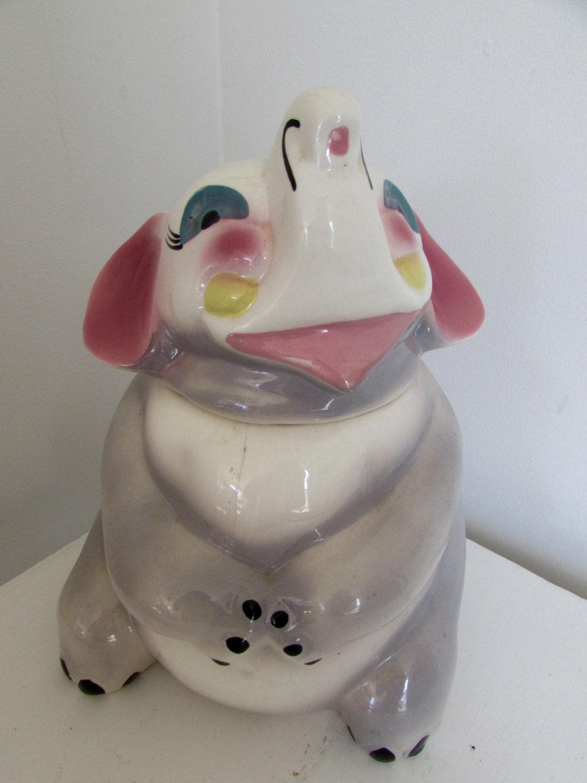 Vintage elephant cookie jar sierra vista by magpiesfancyshop - Vintage elephant cookie jar ...