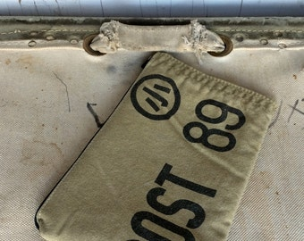 POST - reconstructed 1942 Japanese / American mail bag, small pouch