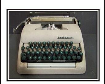 1950s Grey Smith Corona Manual Typewriter.