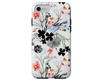 LONGWEEKEND BLUES dainty floral iPhone 7/7 Plus, iPhone 6/6s, iPhone 6/6s Plus,  iPhone 5/5s case, Samsung Galaxy S6
