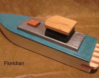 Wooden toy boat the Floridian