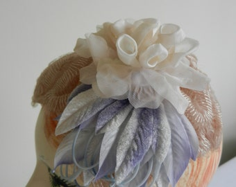 New Old Stock Vintage Pale Pink Close Hat with Vintage Silk Trims