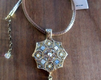 1001  nights arabian gold plated 925 silver necklace