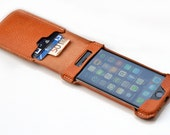 iPhone 7 flip case. Leather flip case for iPhone 7. Natural leather