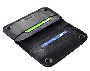 iPhone 7 Plus leather case | iPhone 7 Plus case | iPhone 7 Plus wallet | iPhone 7 Plus leather wallet case. Black leather