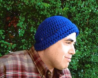 Royal Blue Mens Beanie Hat