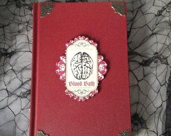 Red Blood Bath Brains Blank Sketchbook Journal