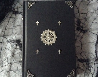 Black Gothic Cathedral Cross Blank Page Sketchbook Journal