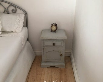 Bedside table for dollhouses scale 1.12