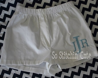 Monogrammed Diaper Covers for the Little Guy