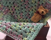 Crochet Granny Square Afghan for Dollhouse Tranquility