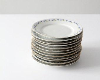 SALE antique Bavarian china, set of 12 dessert plates