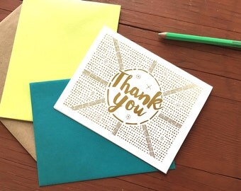 Thank You // Gold Foil Card