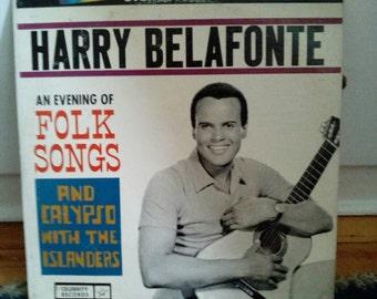 Harry Belafonte & The Islanders Folk Songs Collectible Vinyl Record VG to EX Condition