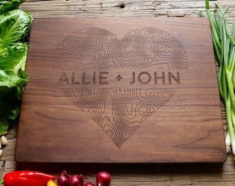 Personalized Wedding Gift, Housewarming Gift, Anniversary Gift, Personalized Cutting Board Wood, Custom Engraved