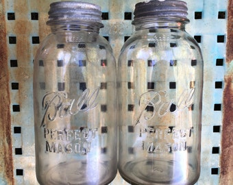 Two Large Vintage Ball Perfect Mason Jars One Can Never Have Too Many