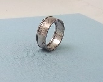 90% Silver Proof coin ring Maine State quarter year 2003 size 8 1/2,  jewelry unique  gift FREE SHIPPING