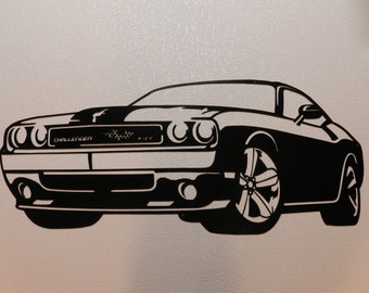 Dodge challenger etsy dodge challenger metal art sciox Image collections