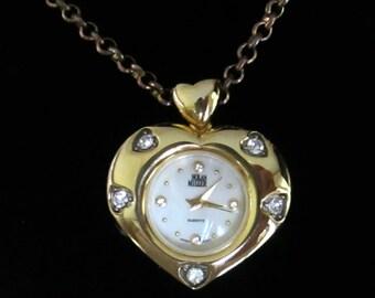 Nolan Miller Heart Watch Necklace