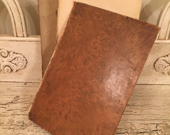 Antique Leather French Bible  - 1898 - Tattered, Distressed Bible - La Sainte Bible