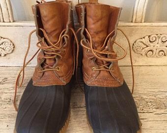 Vintage LL Bean Boots - Men's Size 11 N- Rugged, Broken in - Bean Duck Boots