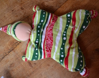 Christmas Themed Waldorf Style Butterfly Doll With Light Skin