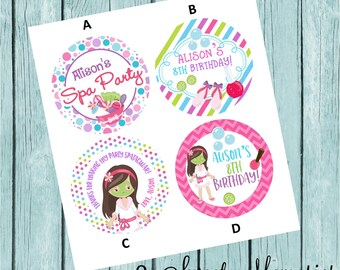 Spa Party Favor Tags/Stickers
