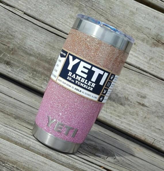 Glitter Yeti Cup Tumbler 20 Oz Yeti Rambler Ombre Soft Rose
