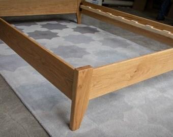 simple full size platform bed frame custom made from american hardwoods ash red - Maple Bed Frame