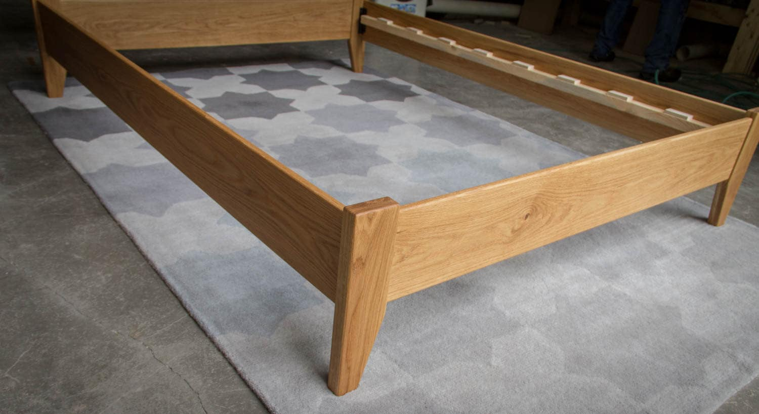 Simple full size platform bed frame custom made from american for American made beds