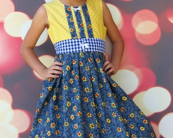 "Girls  Dress ""Everyday Dress "" Dress Children's size 2-8"