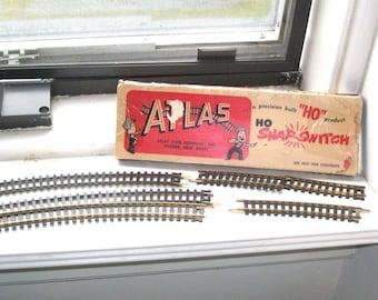 Vintage Atlas HO Gauge Model Railroad Train Track Brass Rails