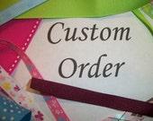 Red/White striped Dog tutu custom listing for Jodie
